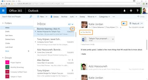 Believe it or not, likes are coming to Outlook