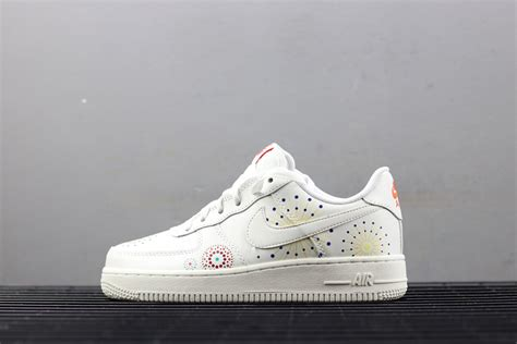 Nike Air Force 1 '07 'LNY' White/Habanero Red For Sale