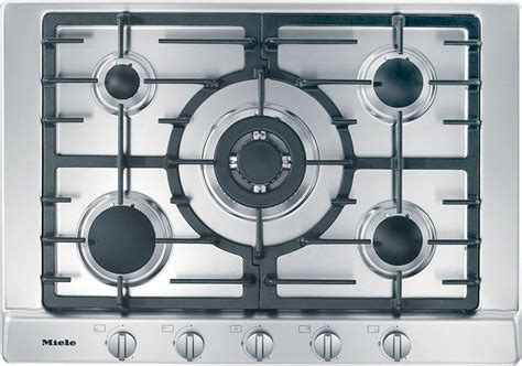 """Miele 30"""" Stainless Steel Gas Cooktop - KM2032G"""
