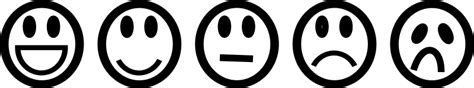 Smileys Black and White by Tavin - A set of simple and