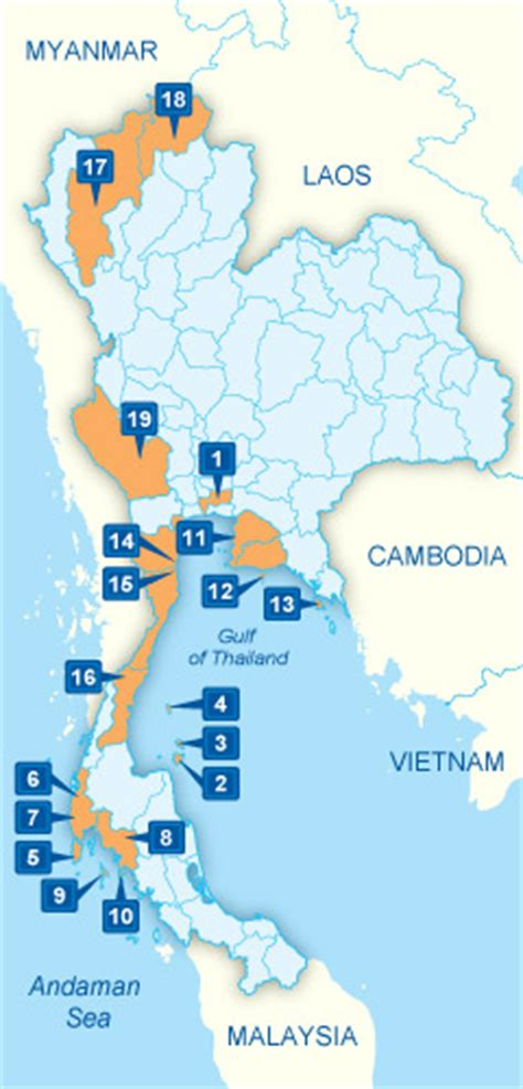 Thailand Map - Google map of Thailand by Sawadee