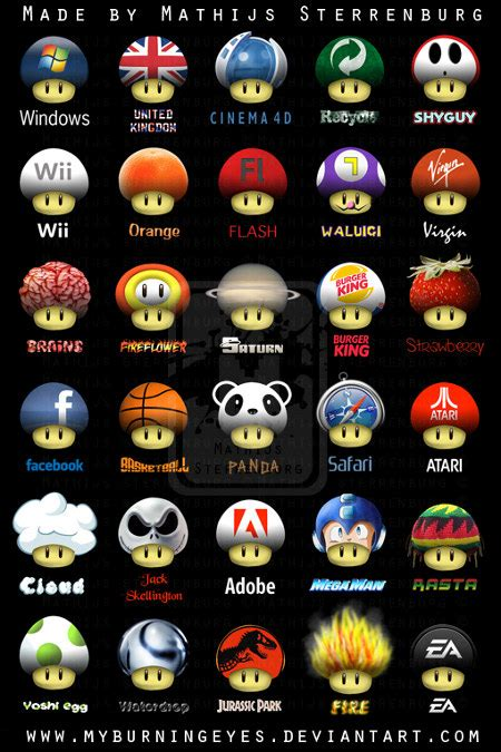 The Many Faces Of Super Mario Mushrooms - Geekologie