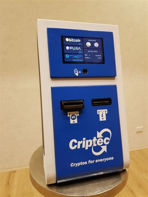 Criptec cryptocurrency ATM machine producer