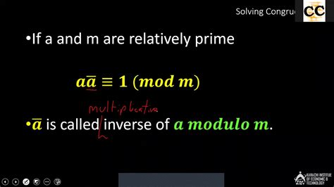 Proof of Euclidean Algorithm and Multiplicative Inverse of