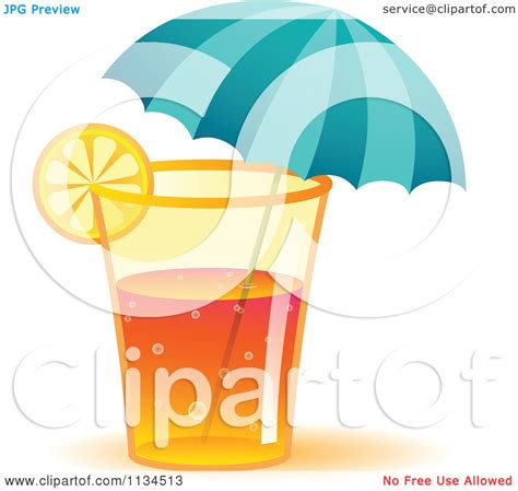 Clipart Of A Long Island Iced Tea Cocktail Drink With An