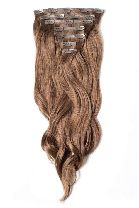 """Chestnut - Seamless Deluxe 20"""" Clip In Human Hair"""
